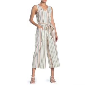 New beachlunchlounge Striped Linen Blend Jumpsuit